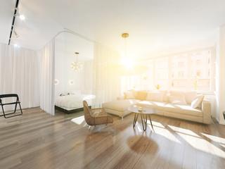 Wohnzimmer im Sonnenschein