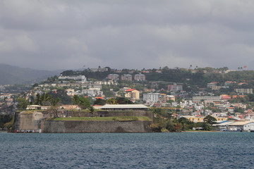 Fortress Fort Saint-Louis and city of Fort-de-France, Martinique