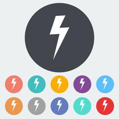 Lightning single icon.