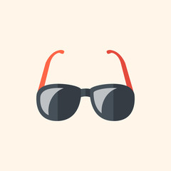 Glasses. Travel Flat Icon