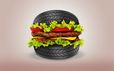 Hamburger Wheel tire