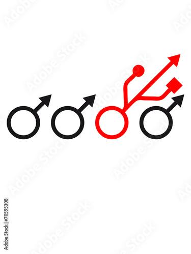 Be Different Nerd Geek Symbol Zeichen Mnnlich Usb Stock Photo And