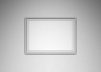 White frame on white wall