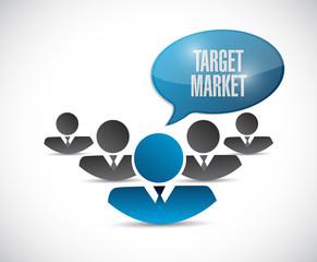 target market team illustration design