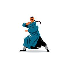 Shaolin monk veector sign