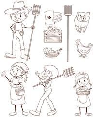 A simple sketch of a farmer