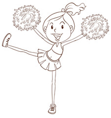 A simple sketch of a cheerleader