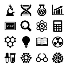 Science Icons Set. Vector