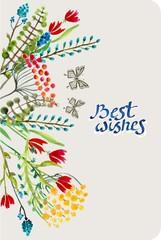 Watercolor natural card