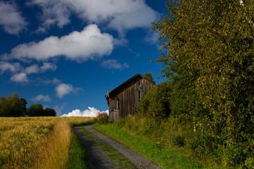 Barn in sunny Sweden