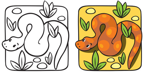 Little snake coloring book.