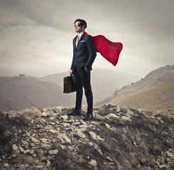 Superhero going to work