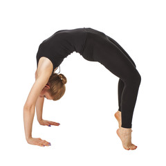 Beautiful slim woman doing yoga