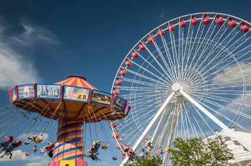 Flying chair and Ferris wheel