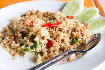 Spicy Basil Fried Rice