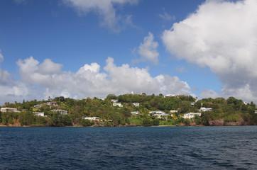Island Saint Lucia coast
