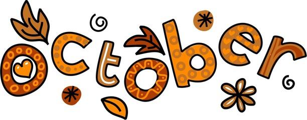 October Clip Art