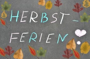 Herbstferien - Tafelbild