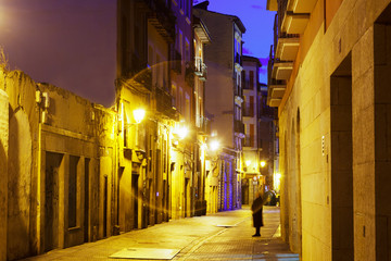 old street in evening. Logrono