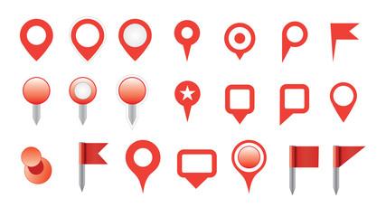 map pin icon set.