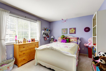 Purple kids room interior