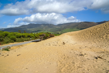 Sand dunes at Punta de la Paloma, Andalucia, Spain