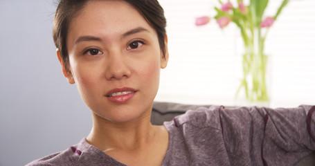 Attractive Mixed Race woman looking at camera