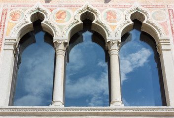 Mullioned Decorated Window