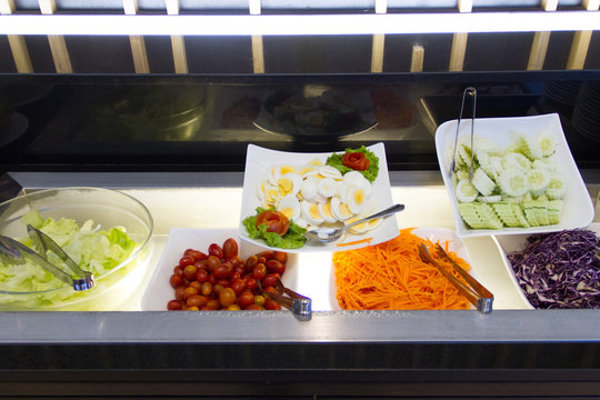 Salads bar for breakfast at home