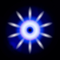 Abstract dark blue lights in circle ray background vector