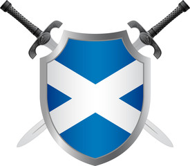 shield with flag of scotland