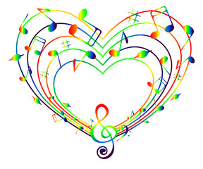 Heart of colorful music .