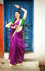 Dancer in Indian Sari