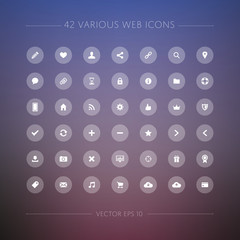 42 Various Web Icons