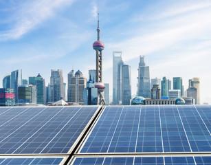 Shanghai landmark ,Ecological energy renewable solar panel plant