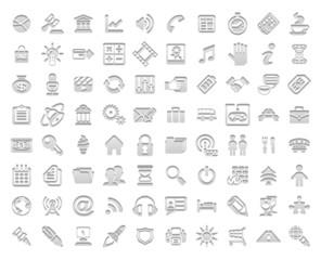 White stamp icons