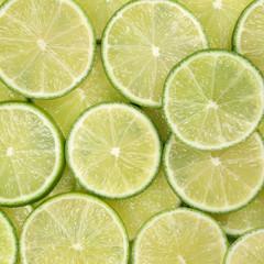 Hintergrund aus Limetten oder Limonen Früchten