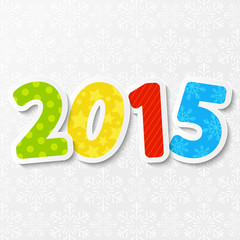 New Year concept with 2015 number
