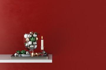 Dekoration für Weihnachten mit Kerze