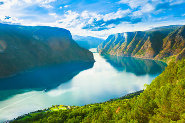 Photo sur Plexiglas Scandinavie Norway Nature Fjord Sognefjord