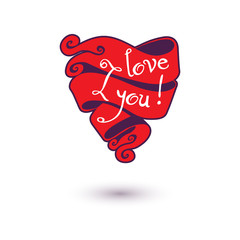 I love you Design vector illustration Template for your design