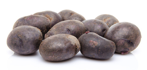 Black purple potatoes vitelotte