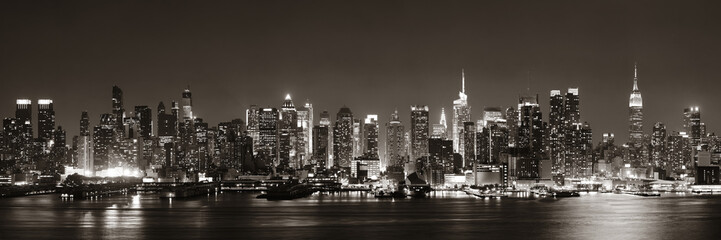 Canvas Prints New York Midtown Manhattan skyline