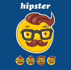 smiley hipster