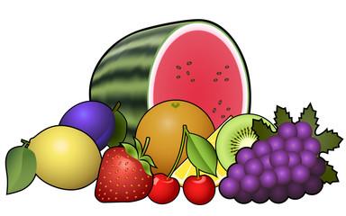 Fruits heap