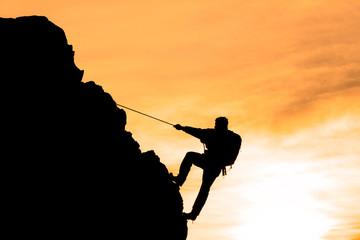 Wall Mural - başarılı zirve tırmanışı