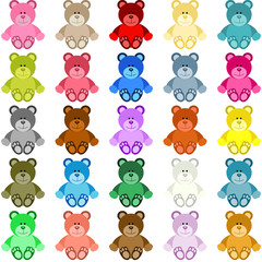 Colored Teddy Bear