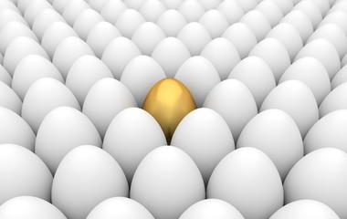 Golden and white eggs