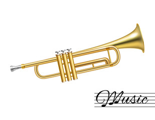 Trumpet isolated on white