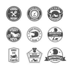 Biker label set